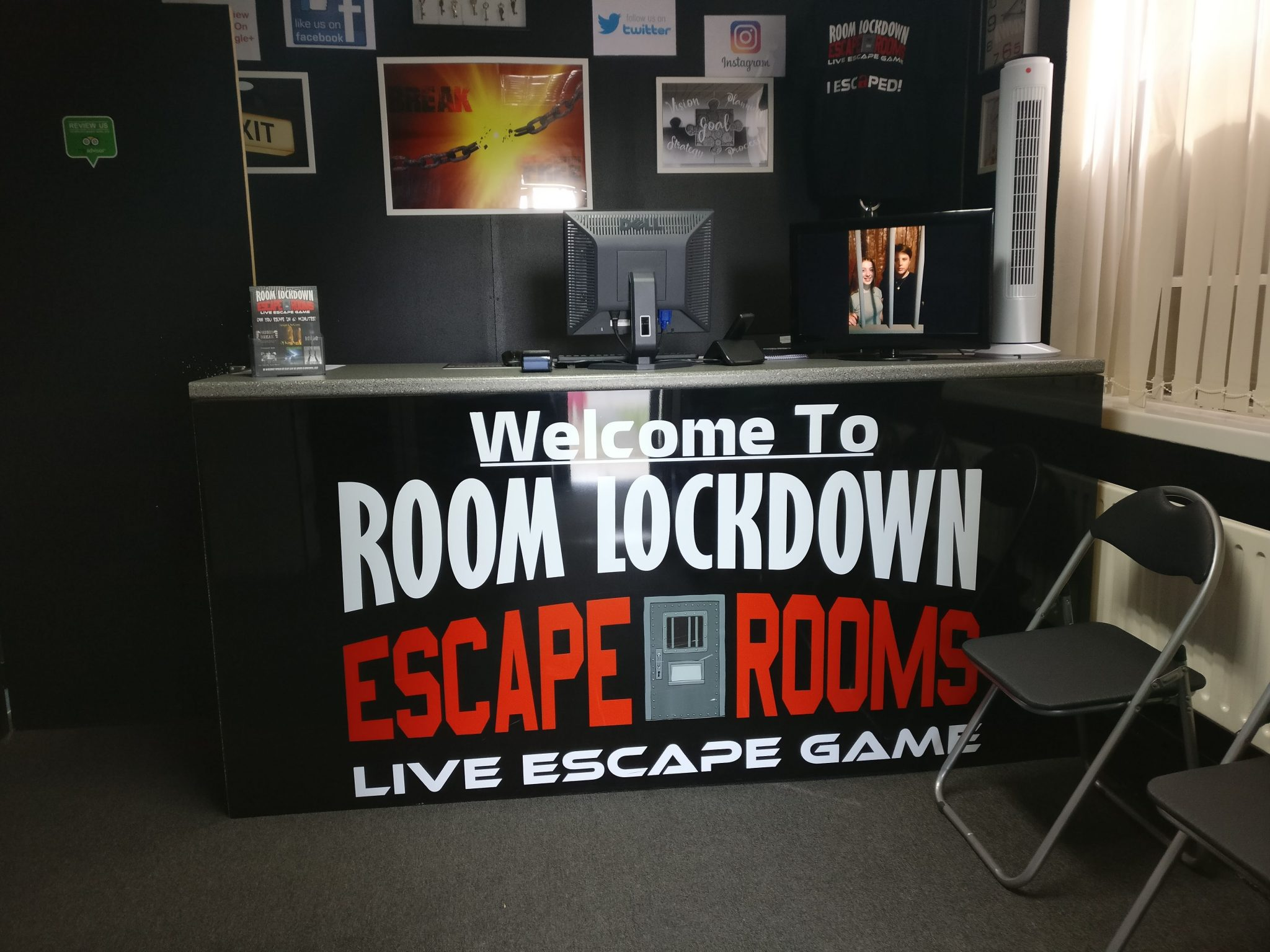 The lobby area of Room Lockdown