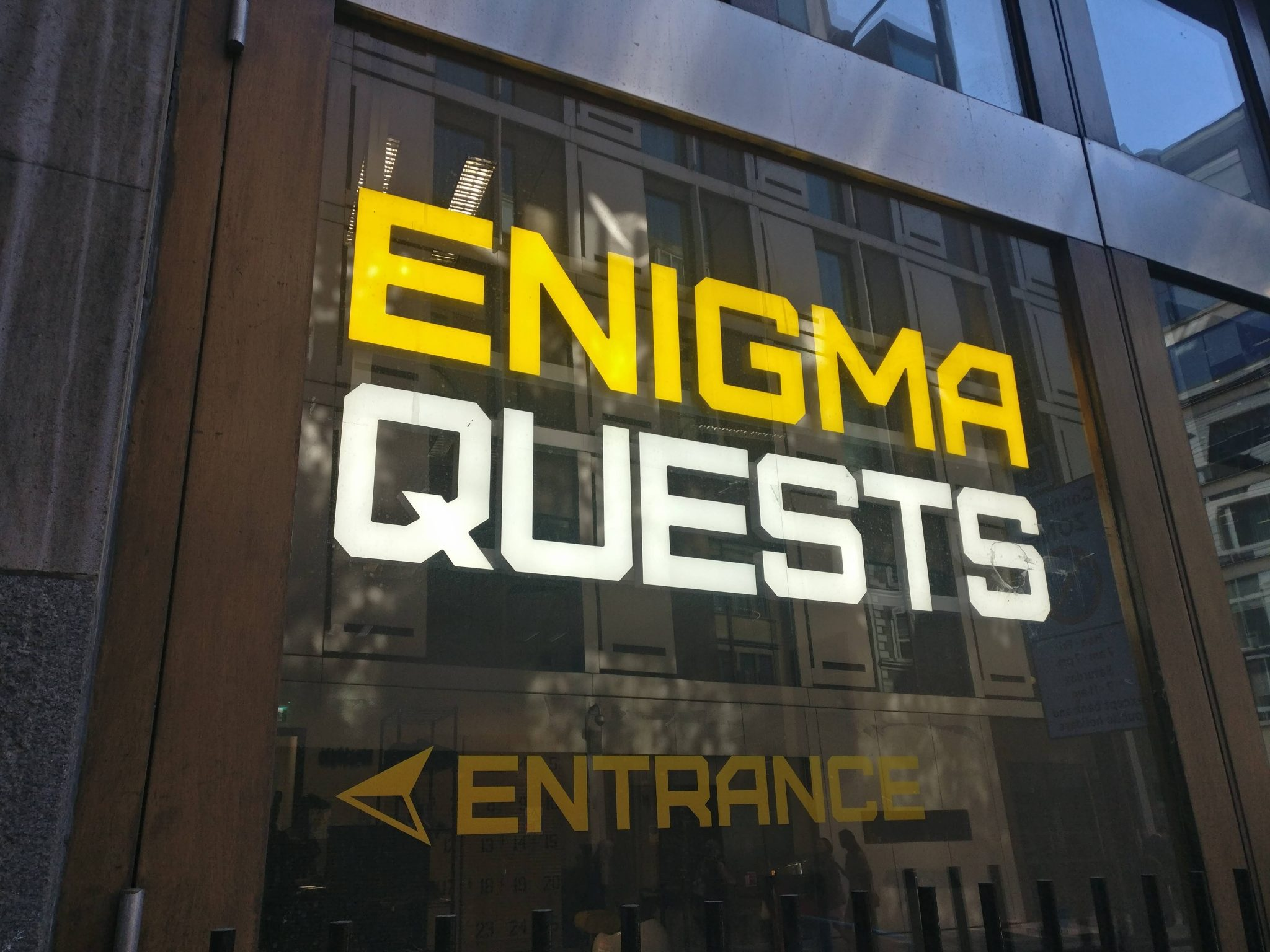 Enigma Quests building from the outside