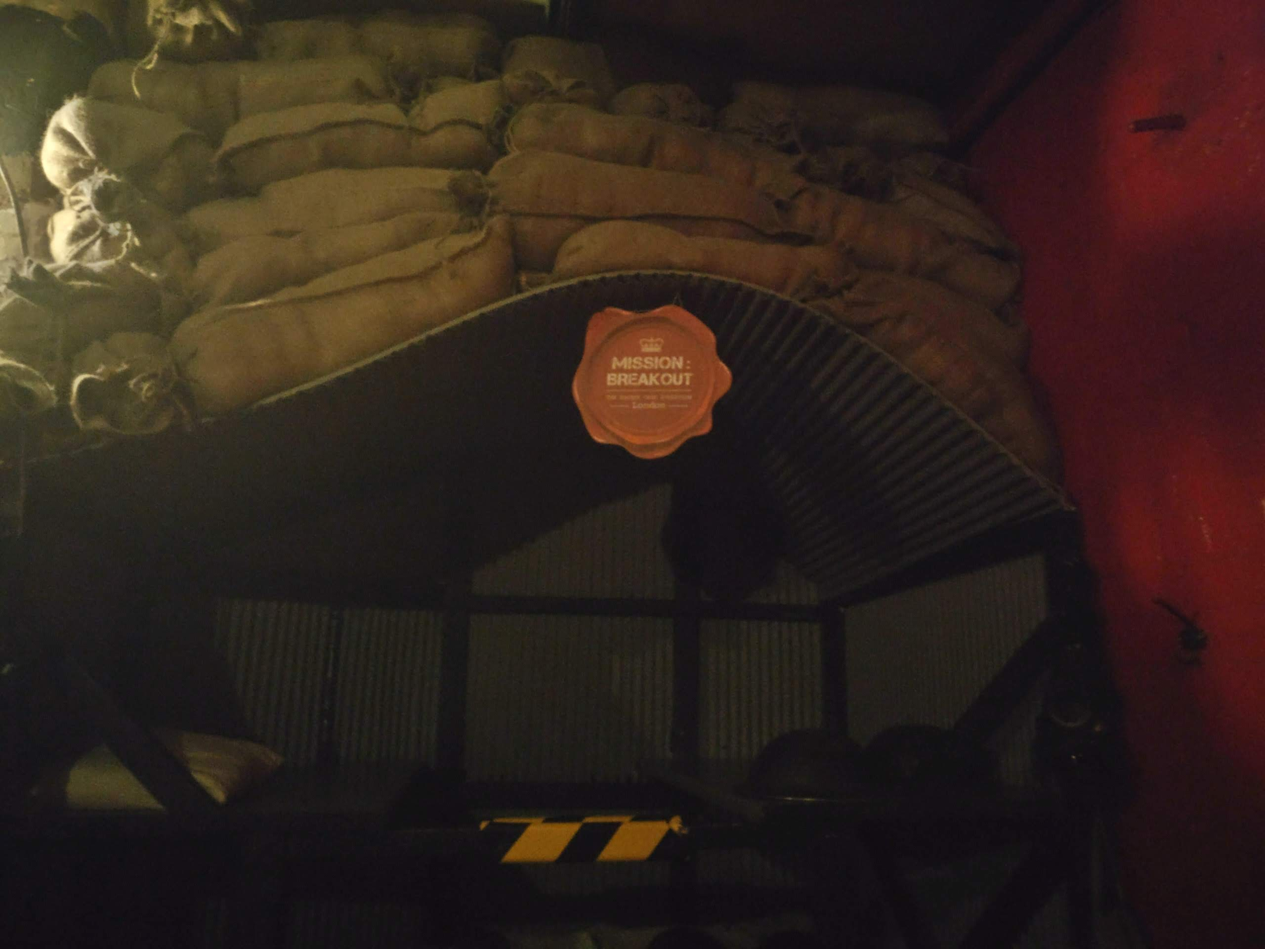 A bunker set up in the lobby area
