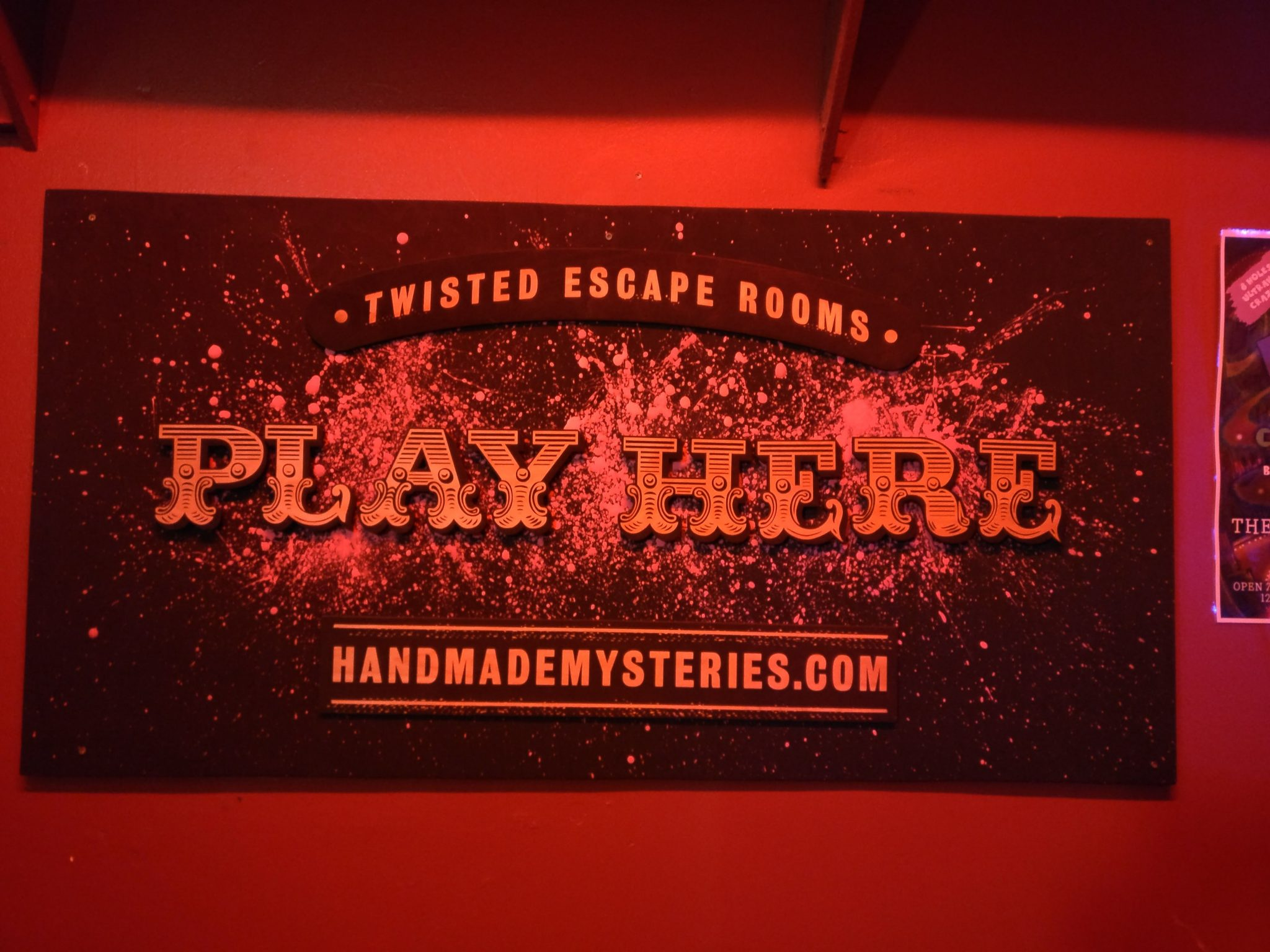 Handmade Mysteries sign