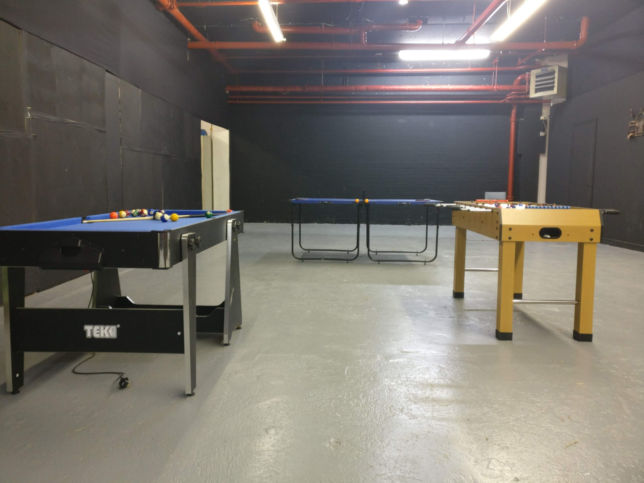 The lobby come games room
