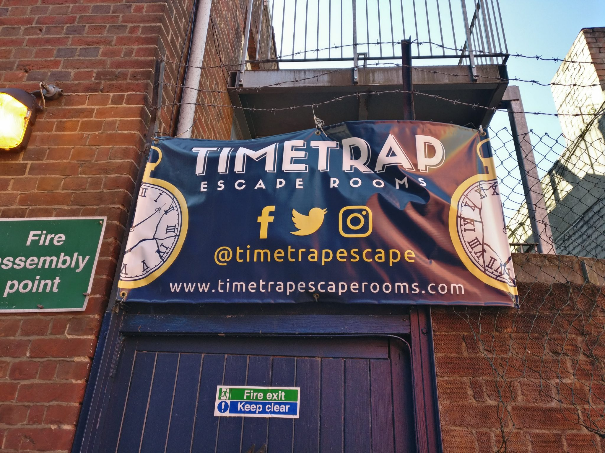 The entrance to Timetrap